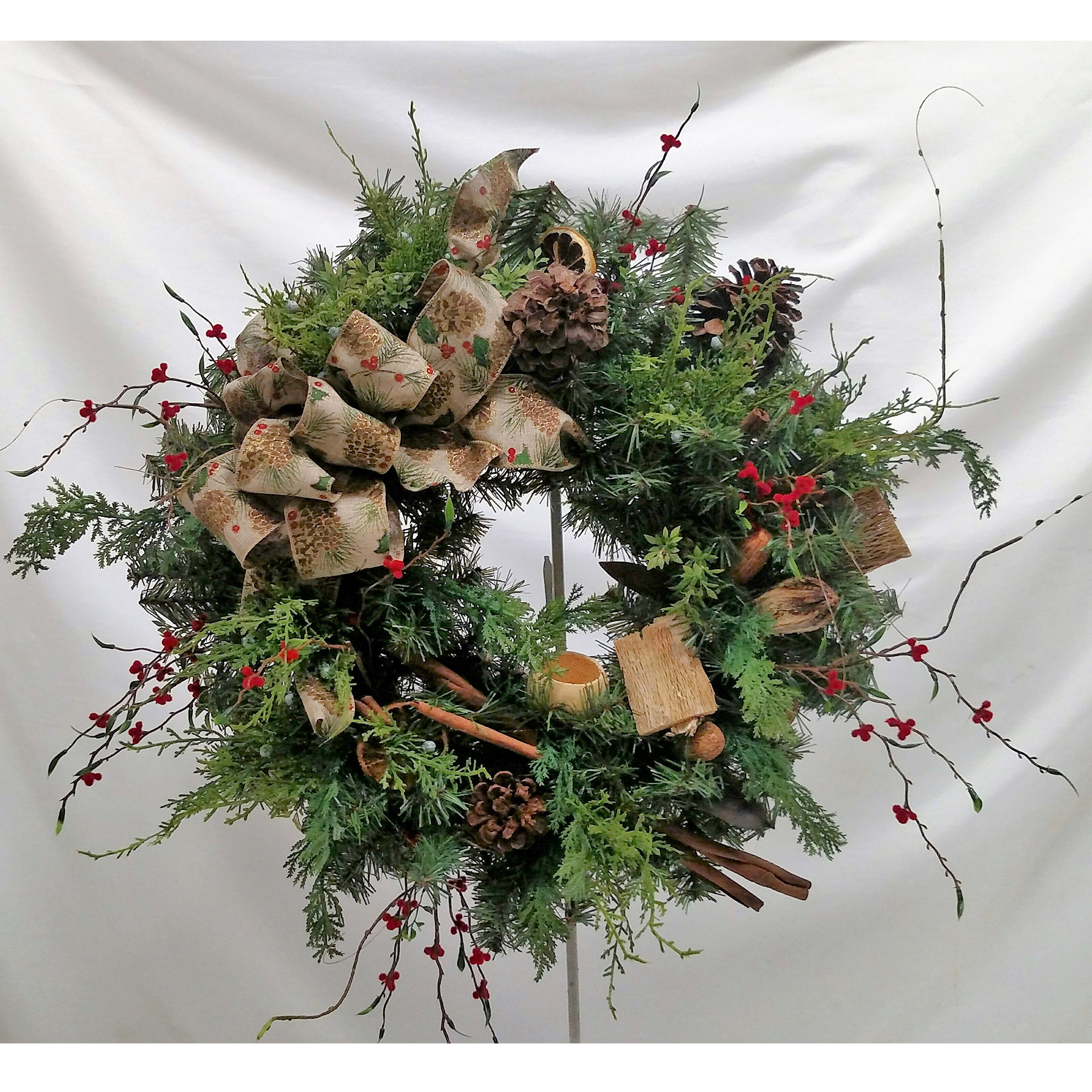 Country Time Christmas Wreath